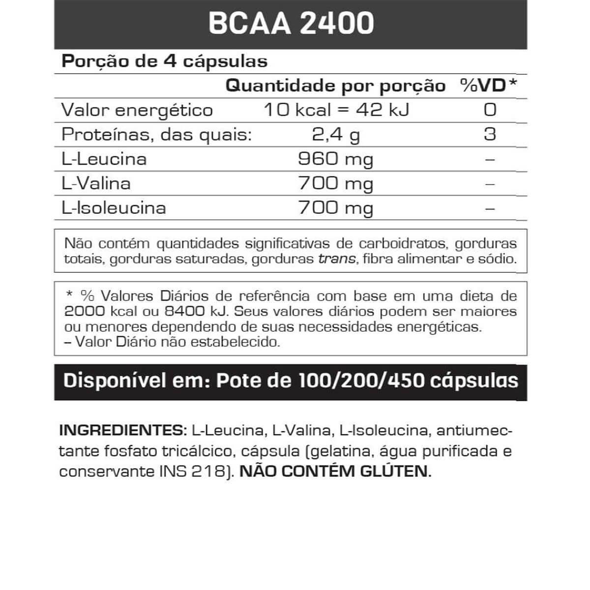 Kit Top Whey 3W - 900g + BCAA 2400 - 60 Caps - Max Titanium