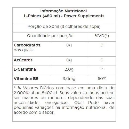 L-Phinex Power Supplements - 480ml