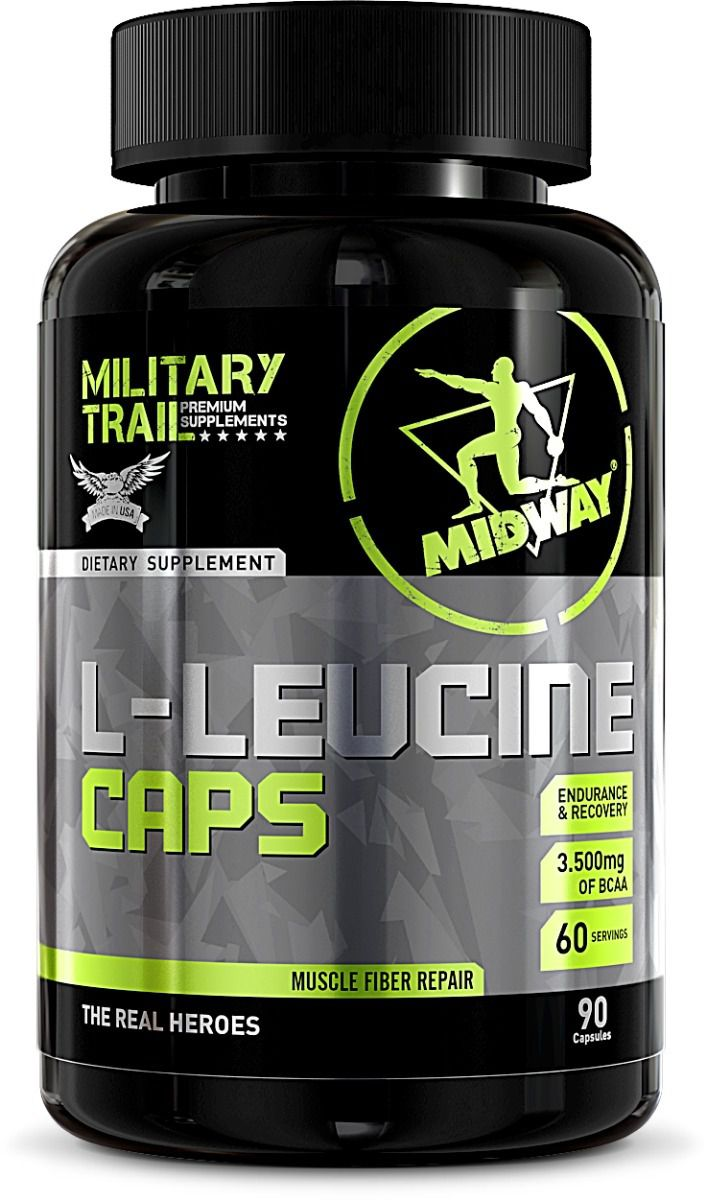 Leucina Caps 750mg  Midway - 90 caps