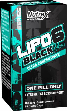 Lipo 6 Black Hers Ultra Concentrate Nutrex - 60 caps