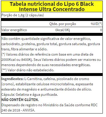 Lipo 6 Black Intense Ultra Concentrado Nutrex - 120 caps