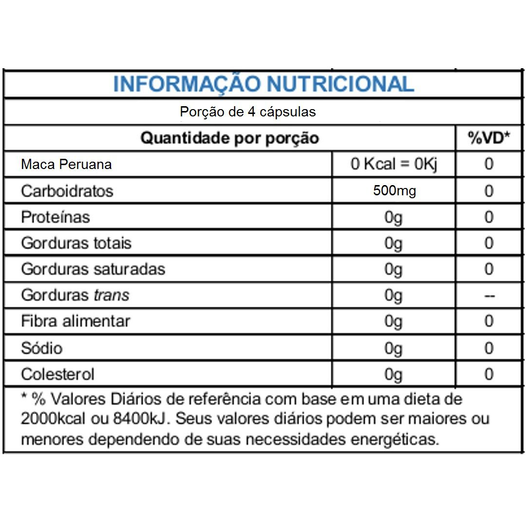 Maca Peruana 500mg Sulphytos - 120 caps