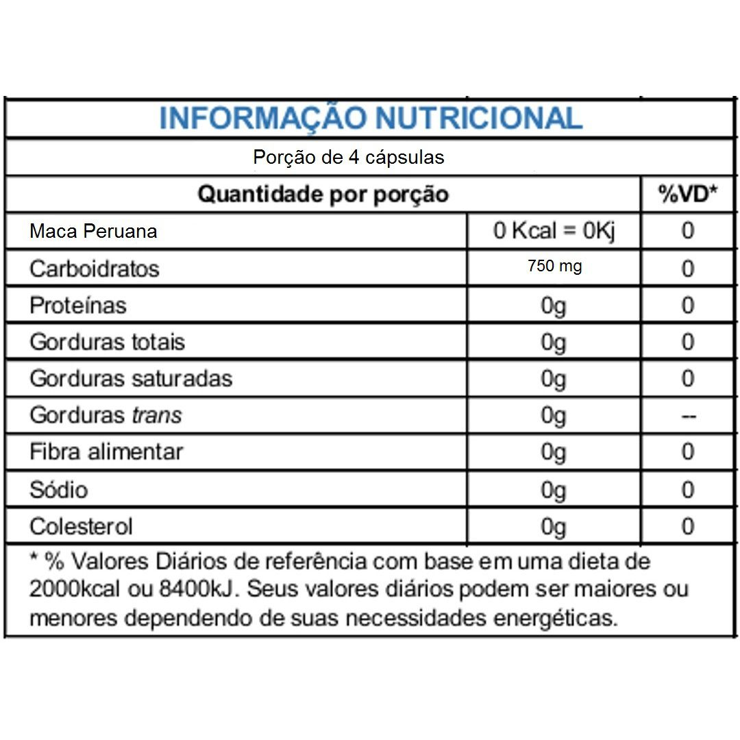 Maca Peruana 750mg Sulphytos - 150 caps