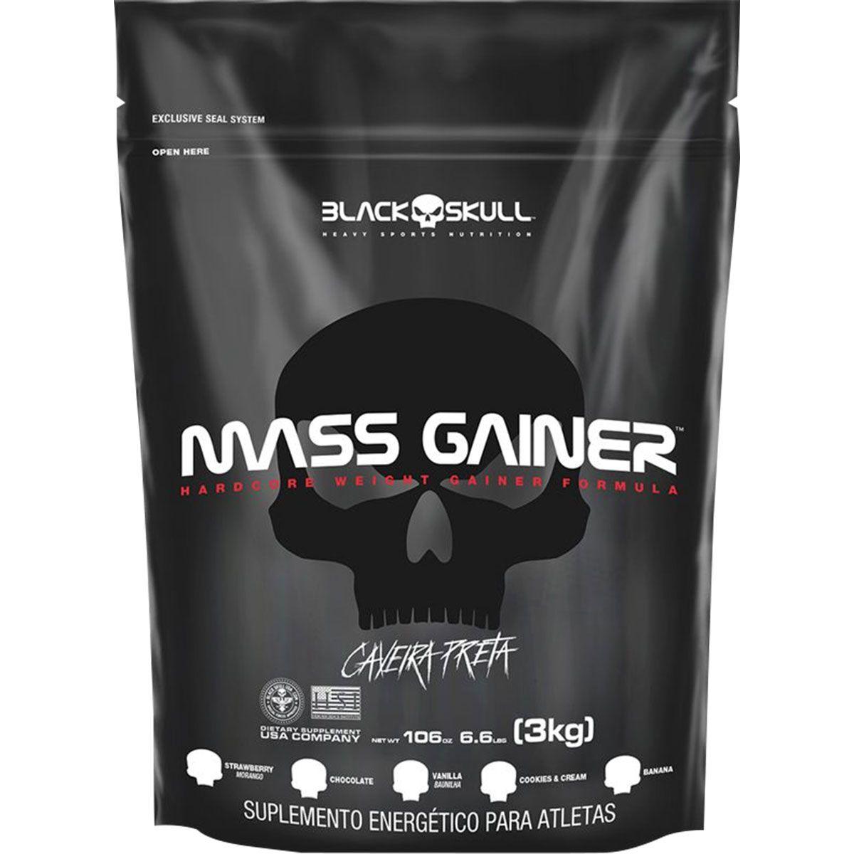 Mass Gainer Refil Black Skull - 3kg