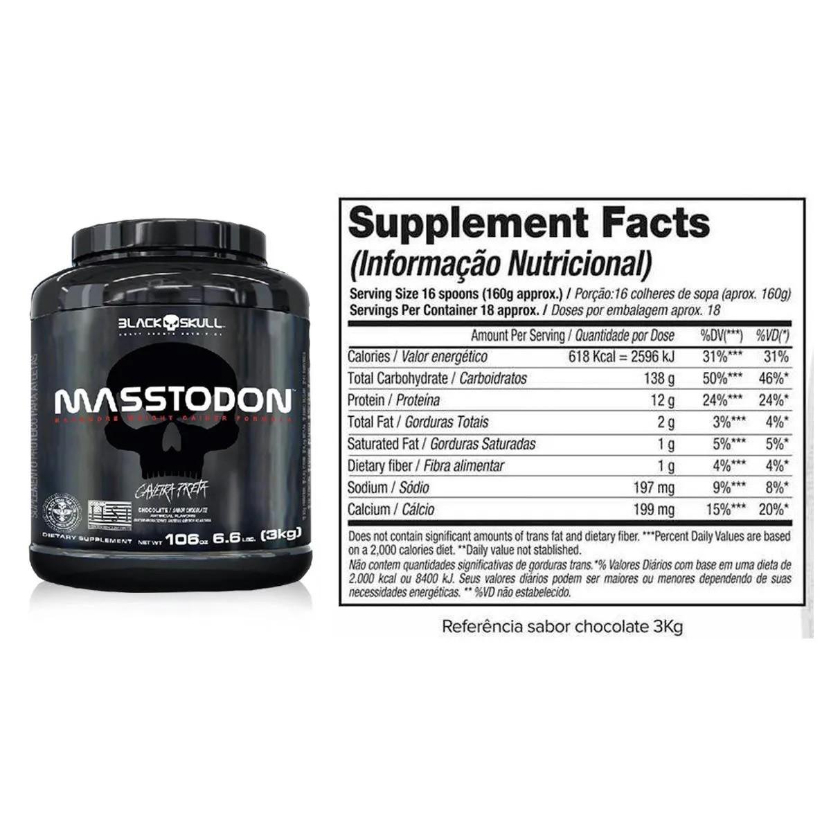 Masstodon Black Skull - 3kg