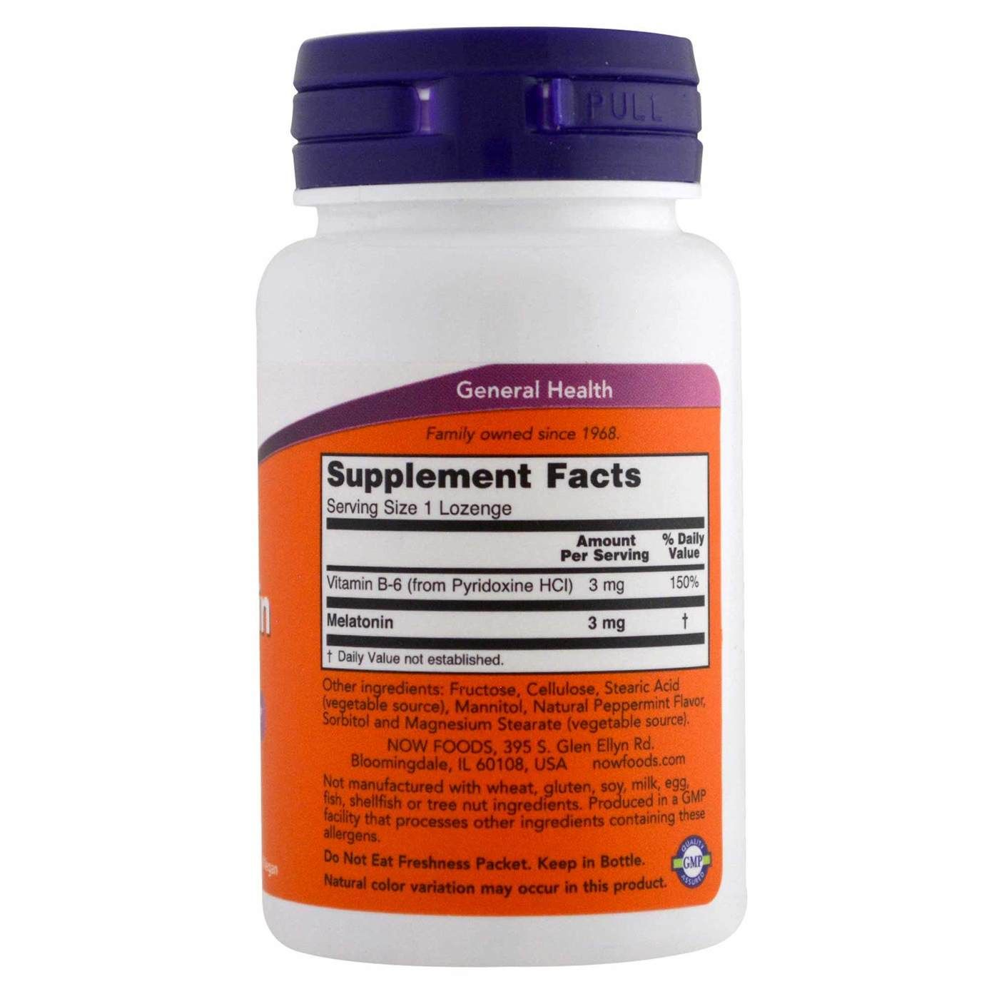 Melatonina 3mg Now Foods - 60 caps