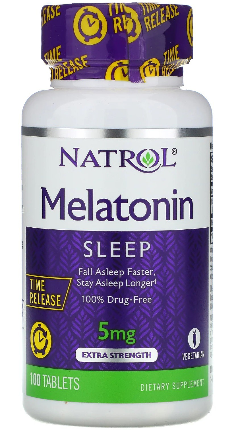 Melatonina Time-Release 5mg Natrol - 100 tabletes