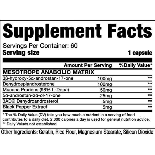 Mesotrope Anabolic Dragon Pharma - 60 caps