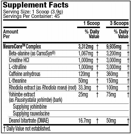 Neurocore MuscleTech - 40 doses