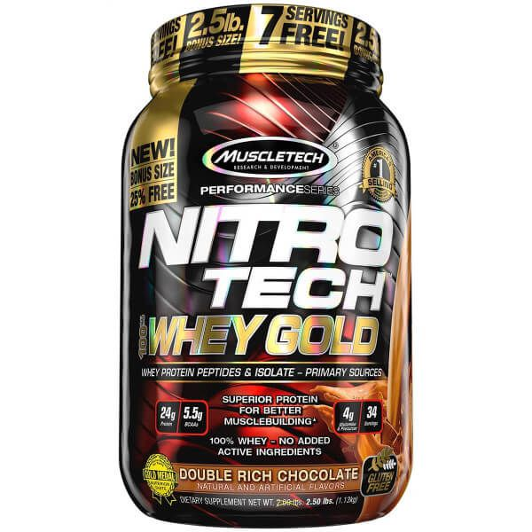 Nitro Tech Whey Gold MuscleTech - 999g