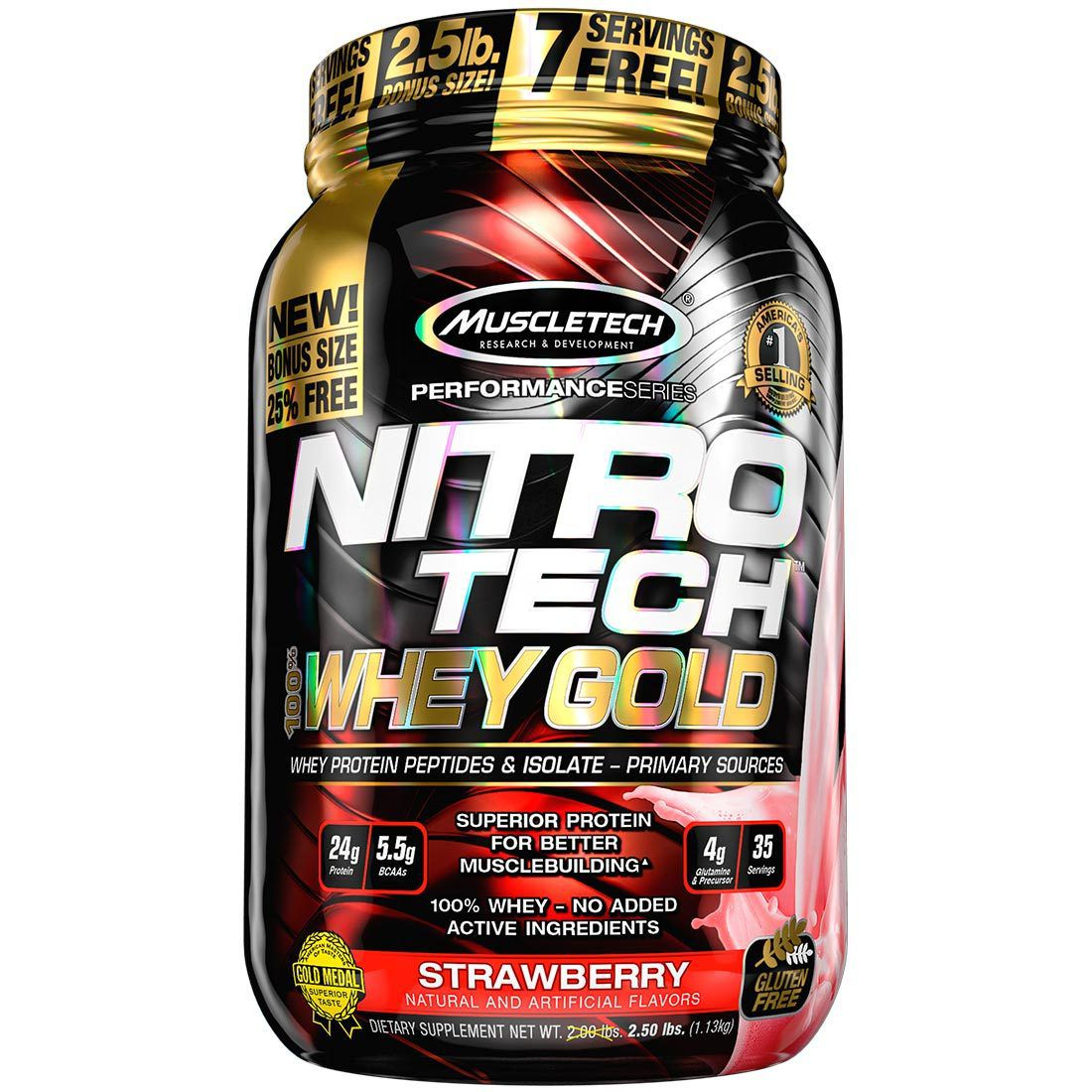 Nitro Tech Whey Gold MuscleTech - 1.13kg