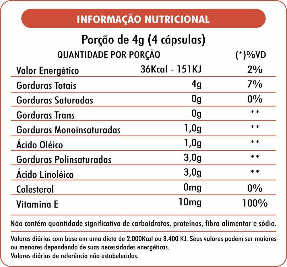 Óleo de Cártamo Com Vitamina E 1000mg NutraCaps - 60 caps
