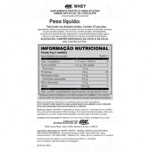 ON Whey Black Line 100% Optimum Nutrition - 824g