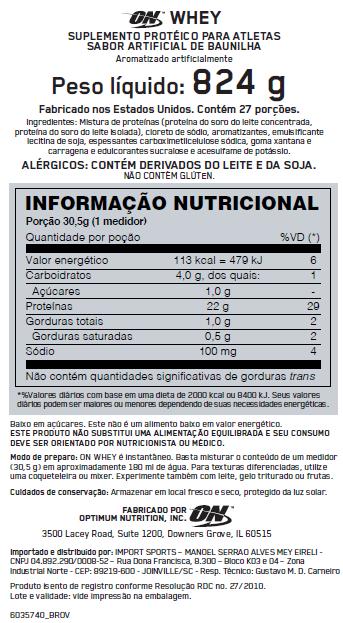 ON Whey Optimum Nutrition - 2.04kg