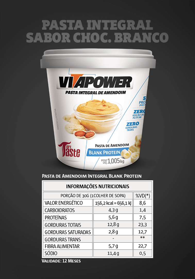Pasta Integral Blank Protein VitaPower - 1kg