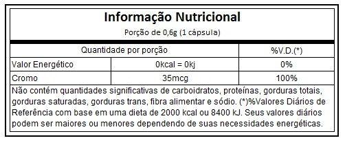 Picolinato de Cromo 100% Nutrata - 120 caps