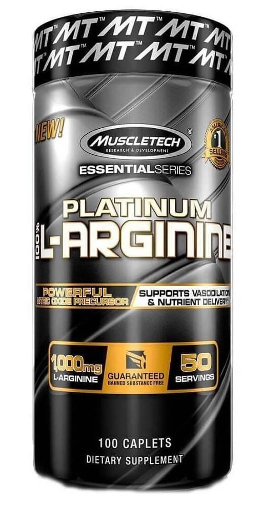 Platinum 100% L-Arginine MuscleTech - 100 tabletes