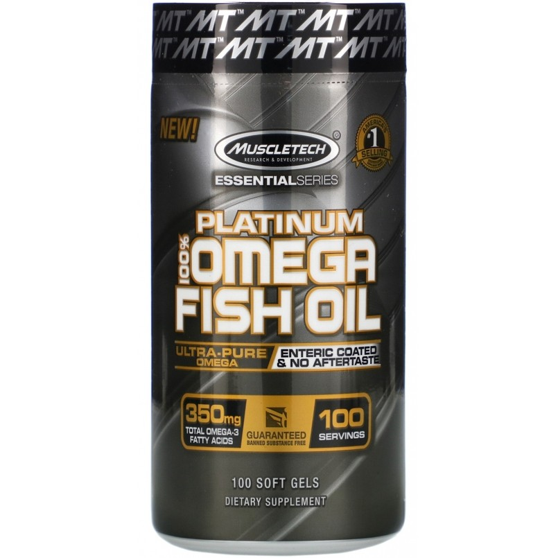 Platinum 100% Omega Fish Oil MuscleTech - 100 caps