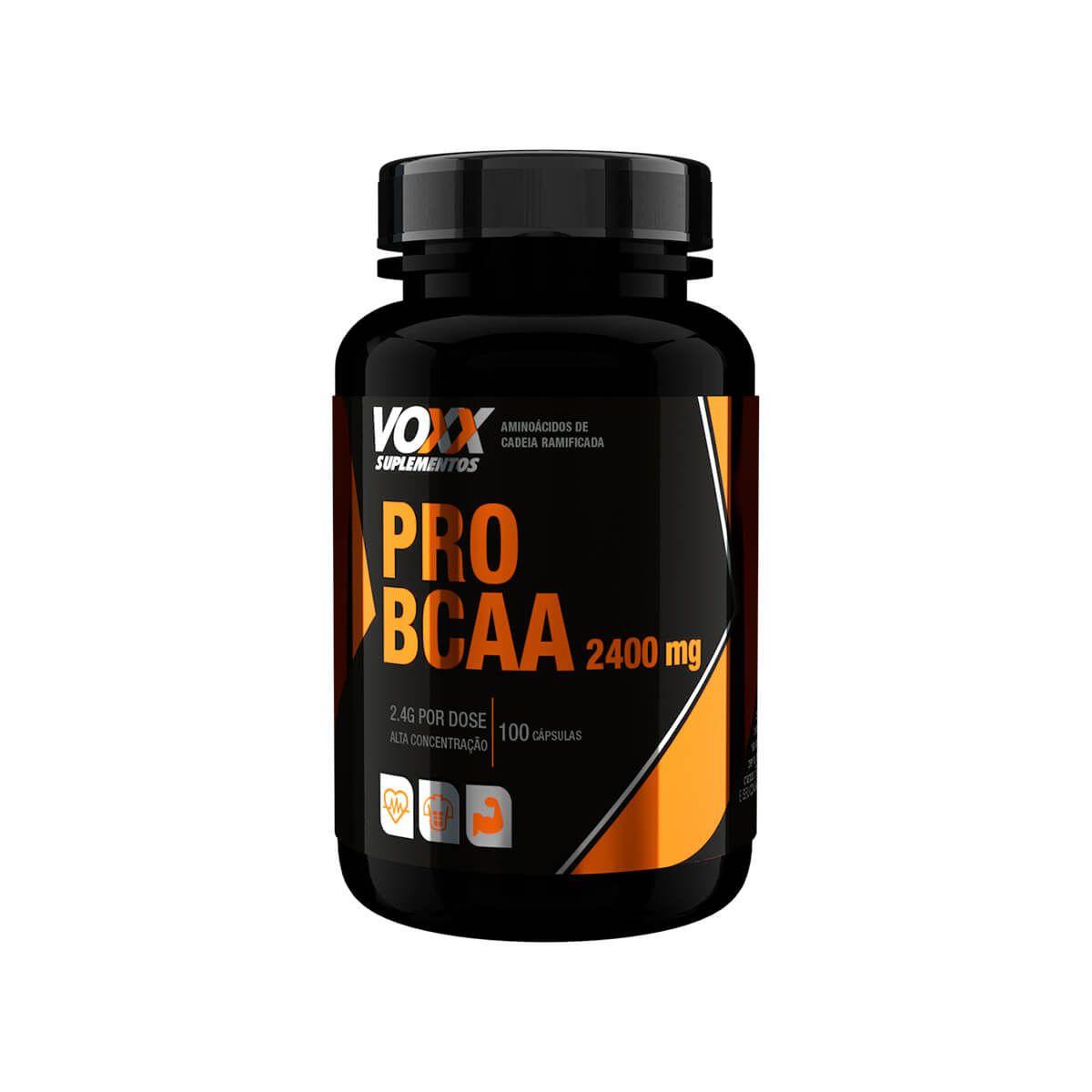 PRO BCAA 2400mg Voxx Suplementos - 100 caps