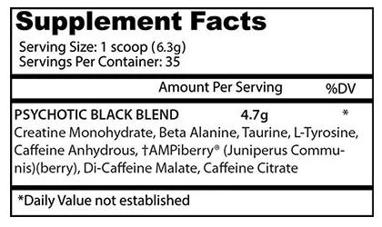 Psychotic Black Edition Insane Labz (IMPORTADO) - 35 doses