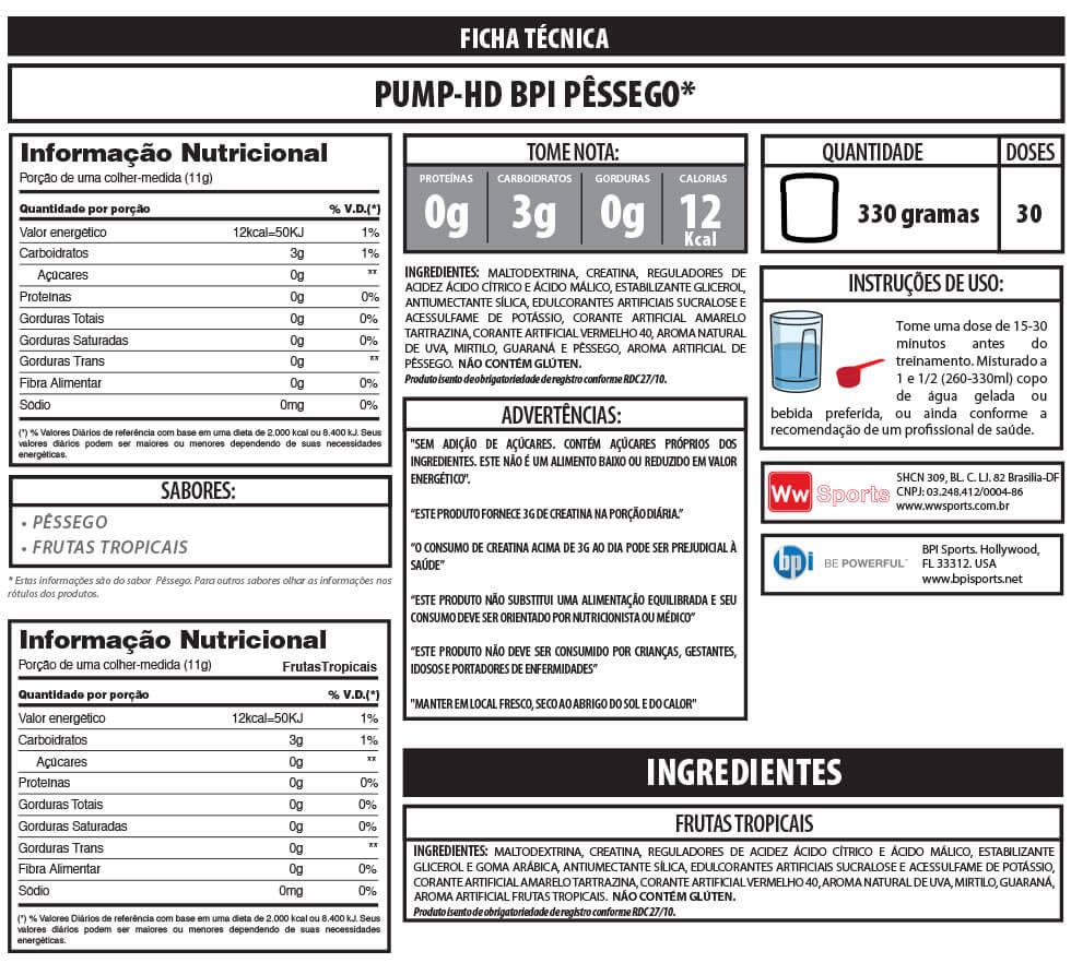 Pump HD BPI - 330g
