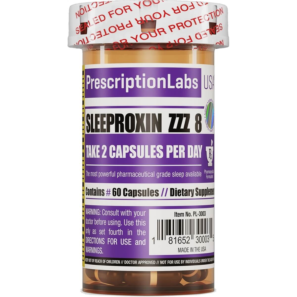 Sleeproxin ZZZ 8 Prescription Labs - 60 caps