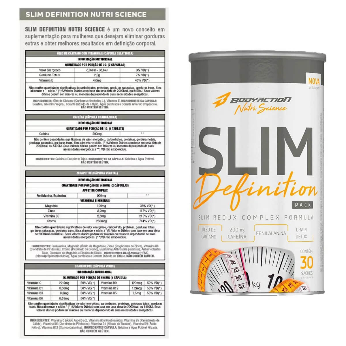 Slim Definition PRO-F Body Action - 30 sachês