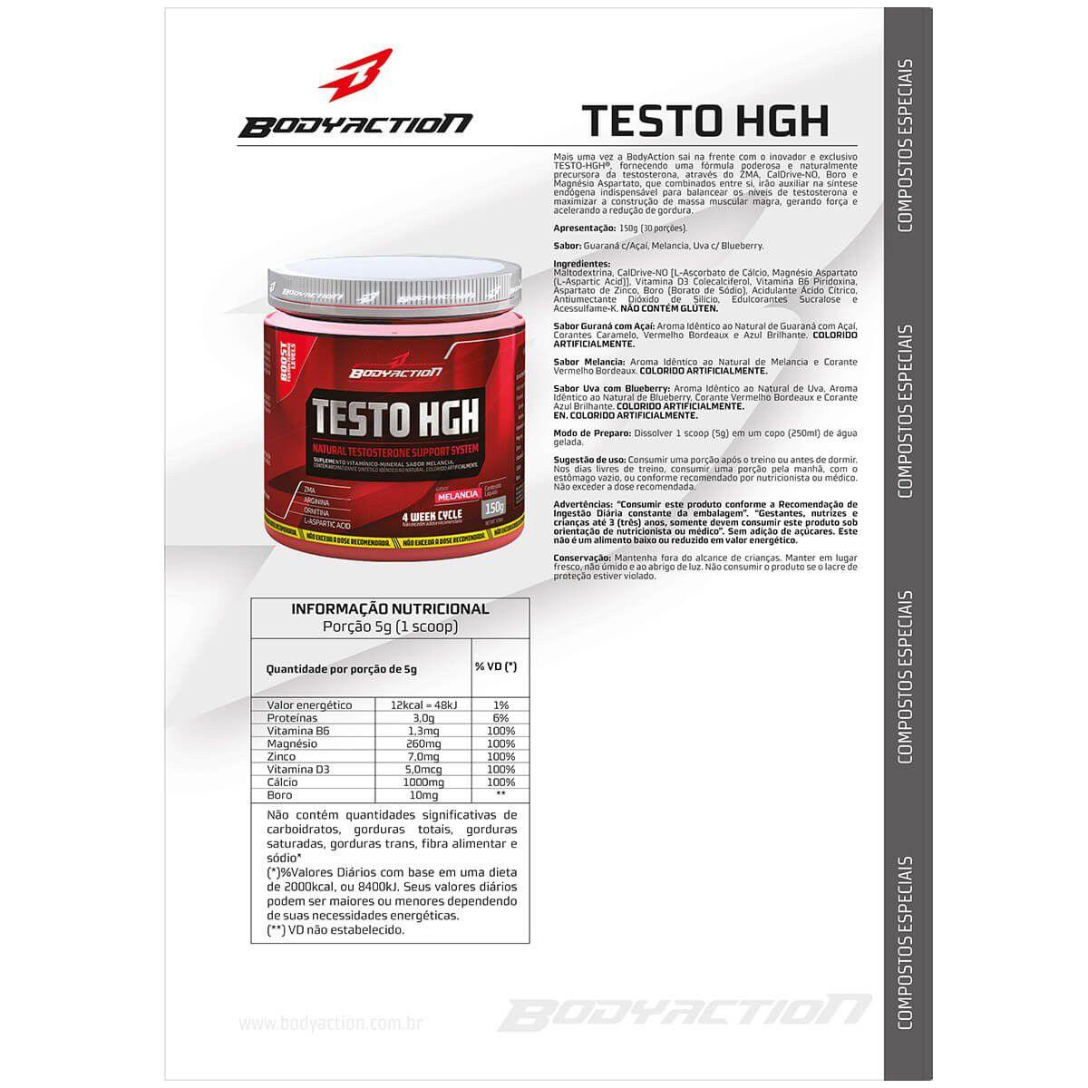 Testo HGH Body Action - 150g