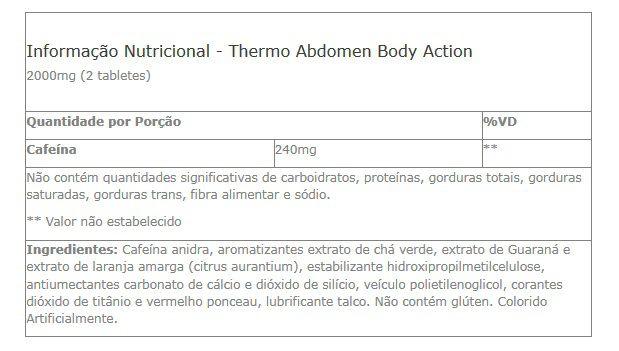 Thermo Abdomen Body Action - 120 tabletes