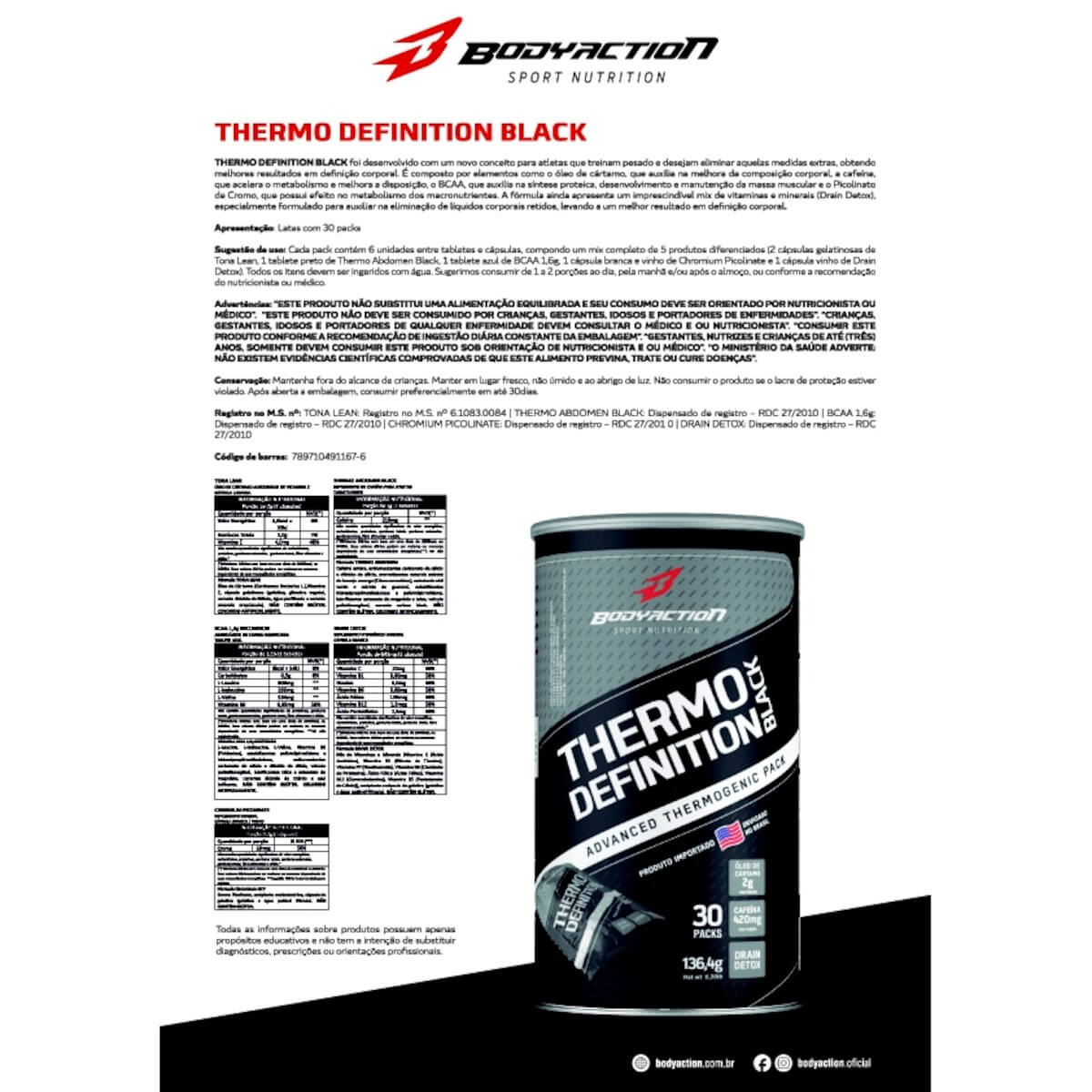 Thermo Definition Black Body Action - 30 packs