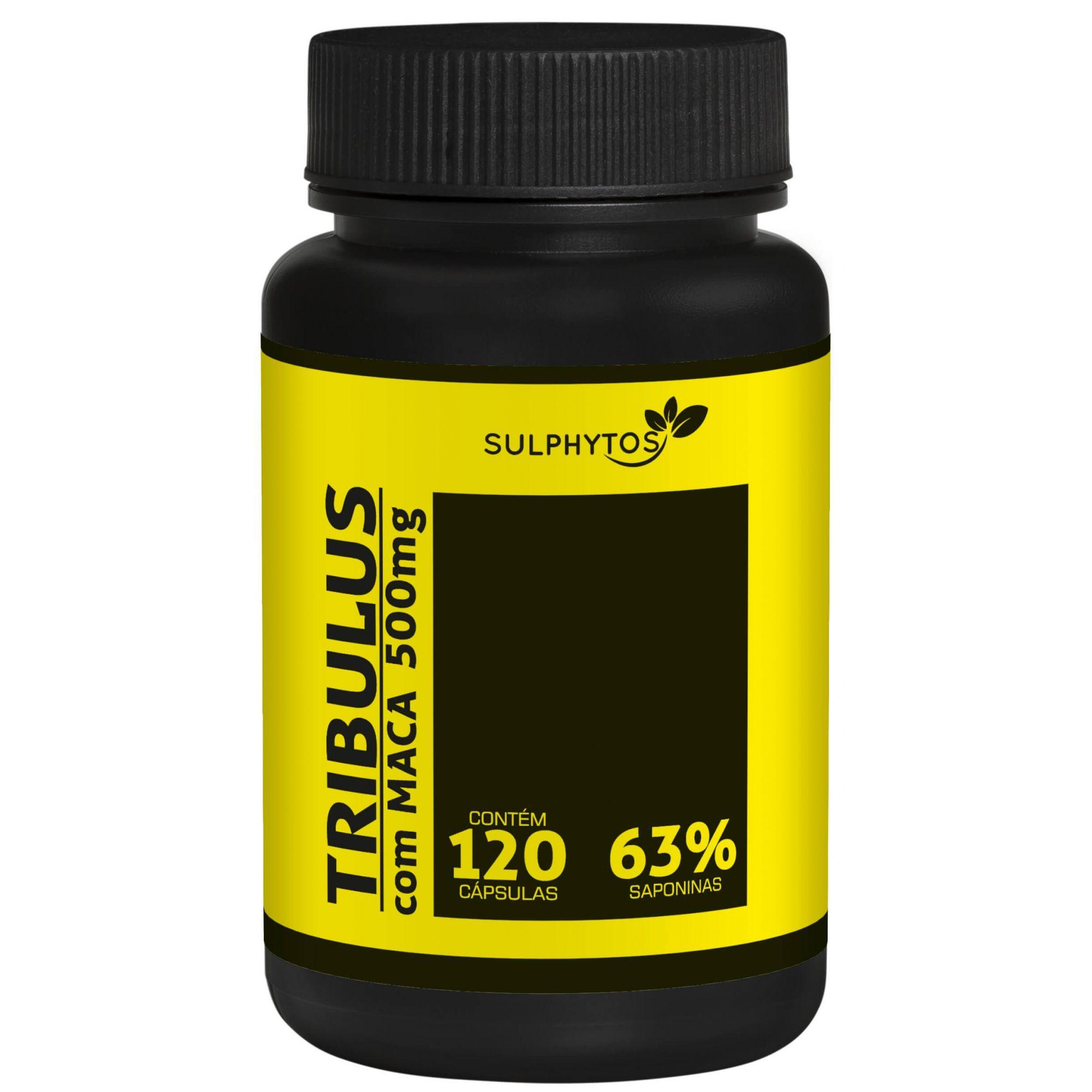 Tribulus com Maca Peruana 500mg Sulphytos - 120 caps