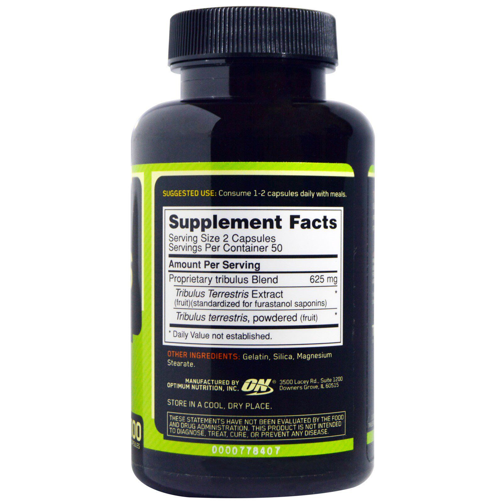 Tribulus Optimum Nutrition 625mg - 100 caps