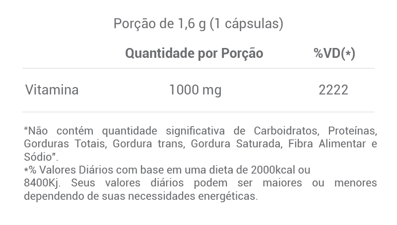 Vitamina C 1000mg Golden Science - 120 caps