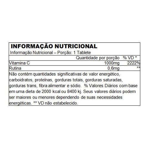 Vitamina C 1000mg Performance Nutrition - 100 tabletes