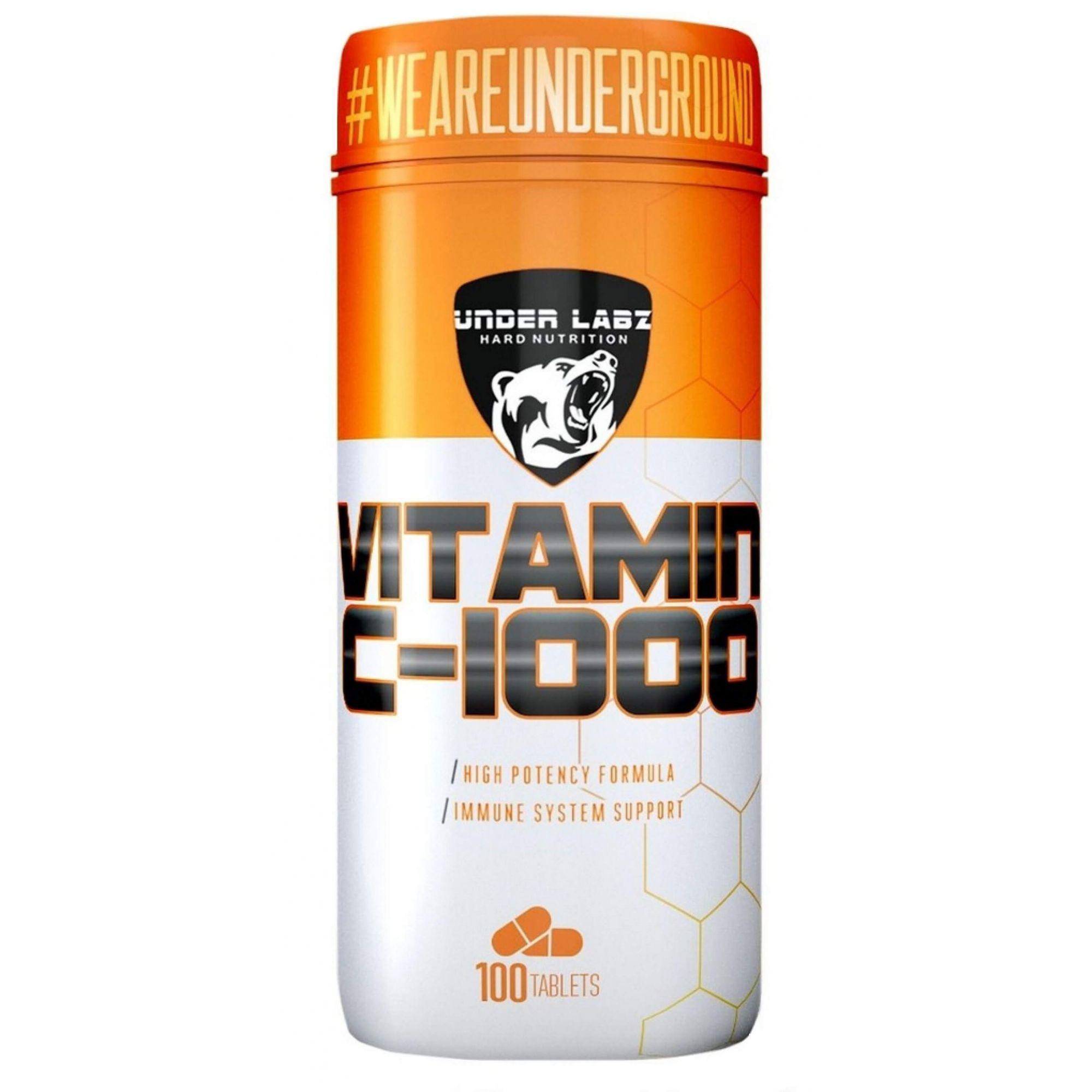 Vitamina C 1000mg Under Labz - 100 tabletes