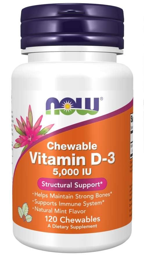Vitamina D-3 5000ui Now Foods - 120 caps