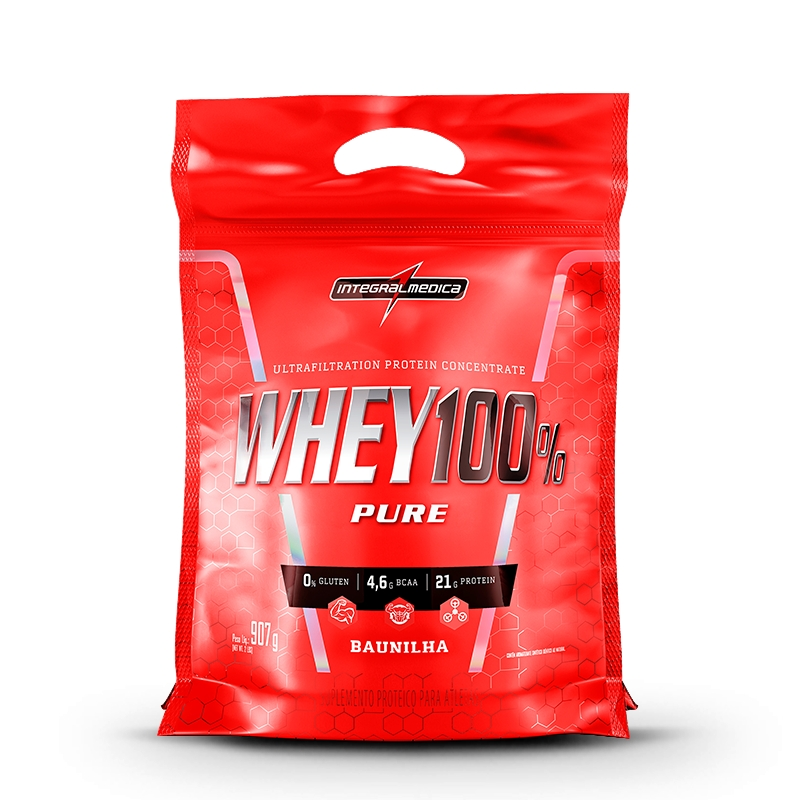 Whey 100% Pure Refil IntegralMedica - 907g