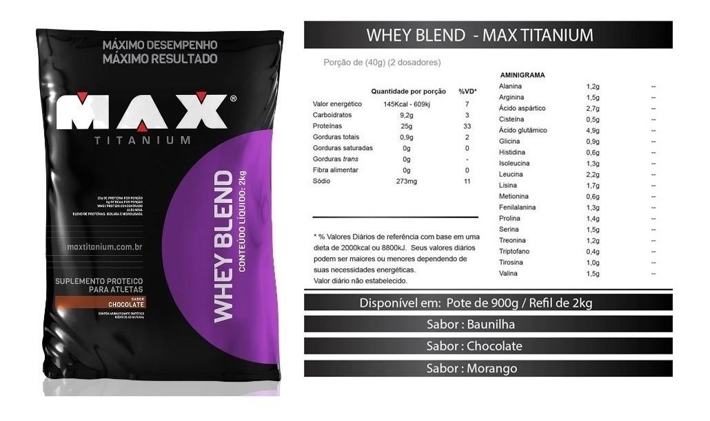Whey Blend Max Titanium - 2kg