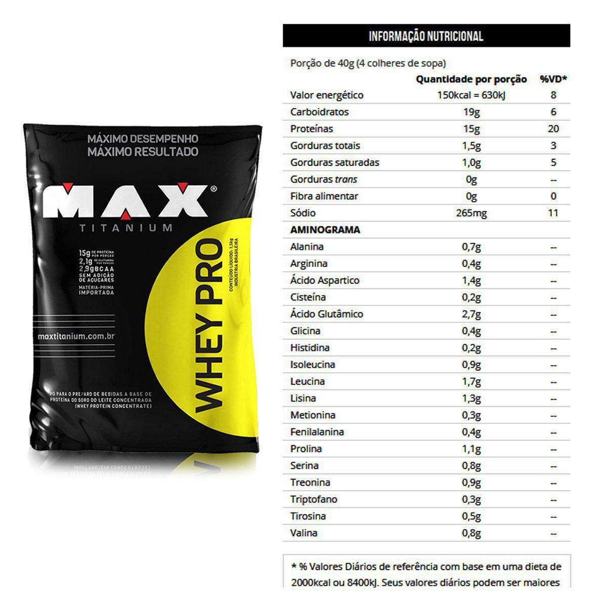 Whey Pro Max Titanium Refil - 1.5kg