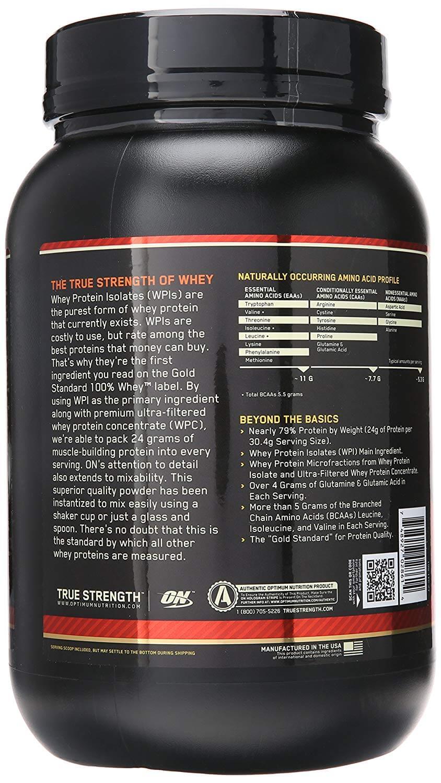 Whey Protein 100% Gold Standard Optimum Nutrition - 900g