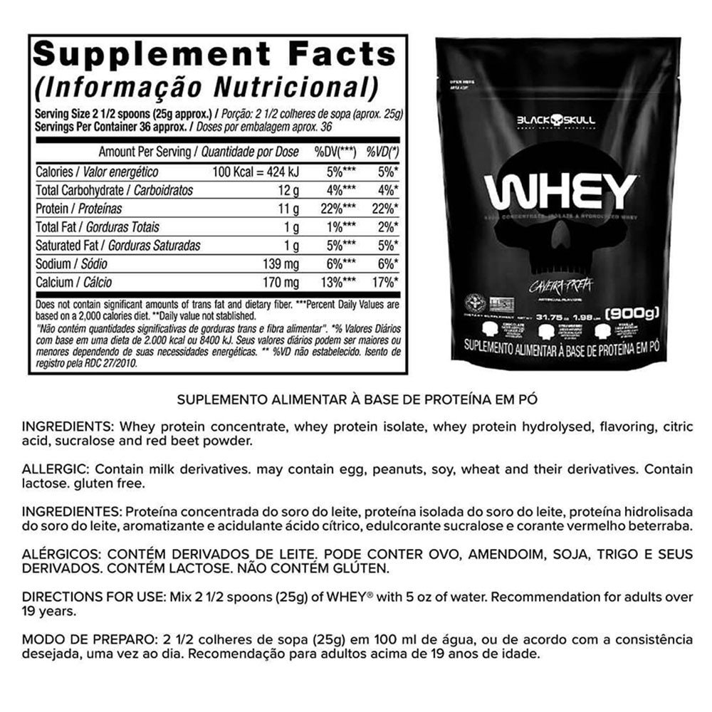 Whey Refil 900g + BCAA 2400 30 caps + Glutamina 100g + Thermo Flame 60 tabletes