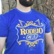 Camiseta Circuito Rodeio CRP - Azul royal - estampa amarelo