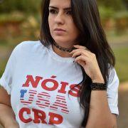 Camiseta CRP Nóis USA - Branca/Vermelha