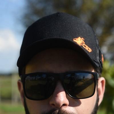 Boné CRP Preto Básico logo Laranja