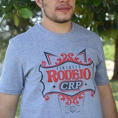 Camiseta Circuito Rodeio CRP - cinza  mescla