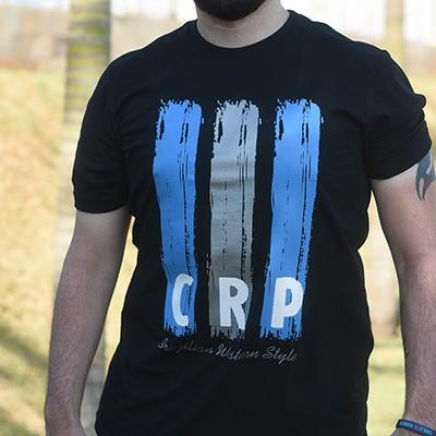 Camiseta CRP estampa pincelada - preta