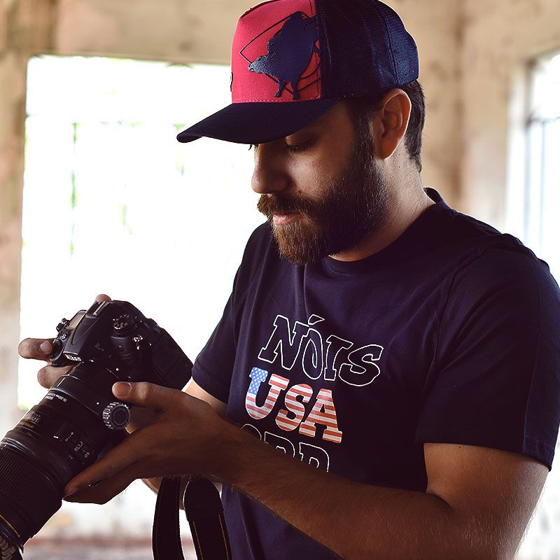 Camiseta CRP Nóis USA - Preta