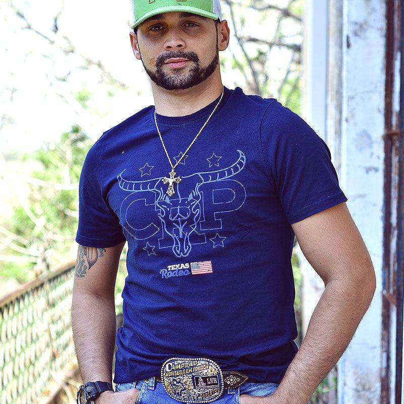 Camiseta CRP Texas Rodeo - Azul Marinho