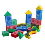 Brinquedo Educativo Blocos de EVA Grandes Construtor
