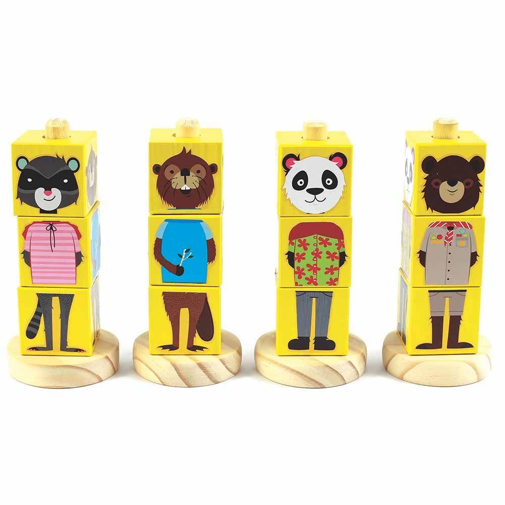 Blocos de Montar Animais - Amarelo